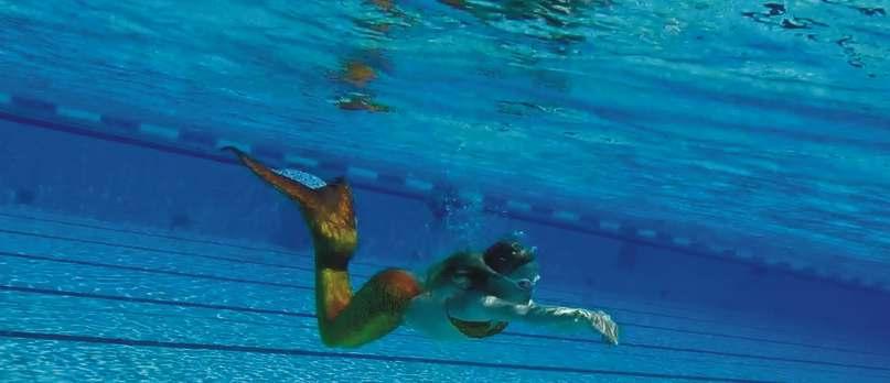 Meerjungfrauen im Wasser