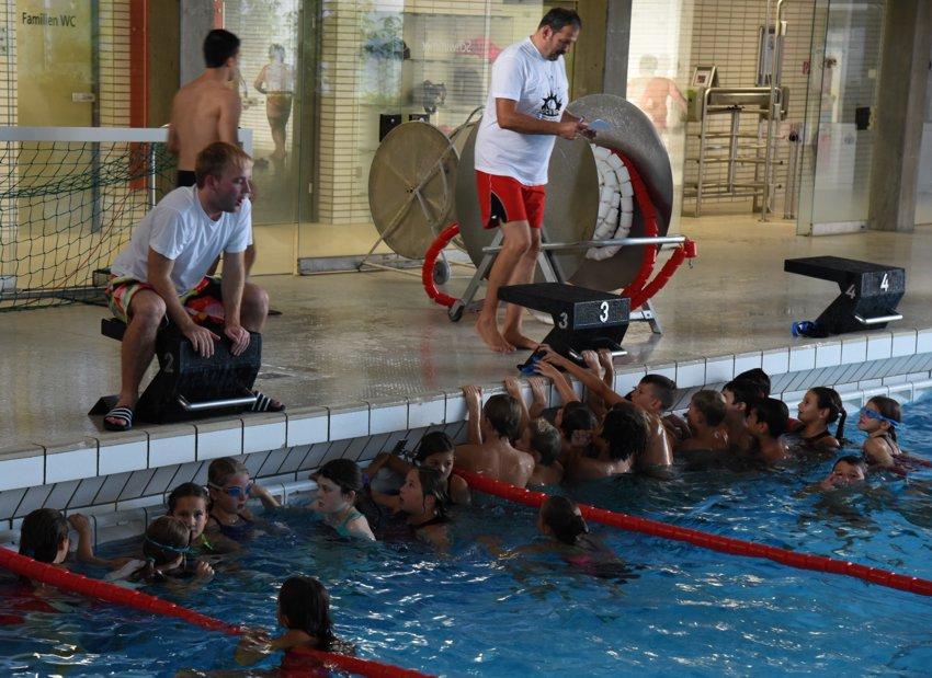 Schwimmtraining hat begonnen