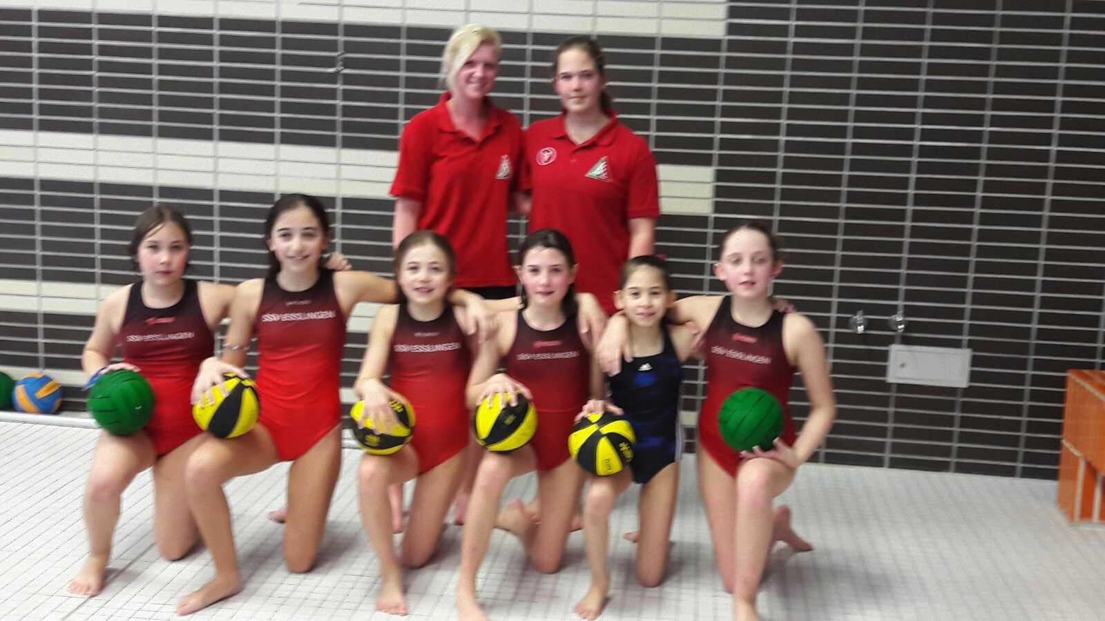 Toller Start der SSVE U11-Wasserball-Mädchen trotz Niederlage