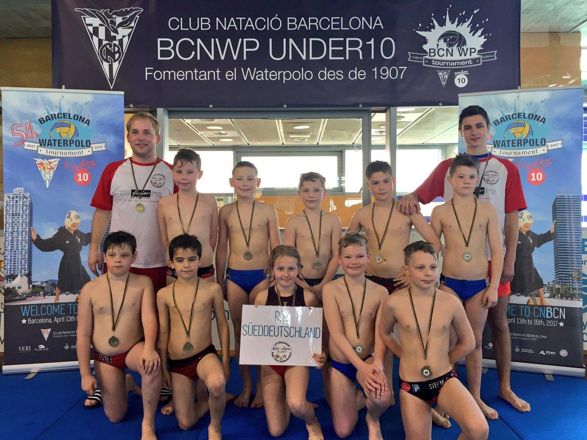 U10 Wasserball-Minis schaffen Platz 15 in Barcelona