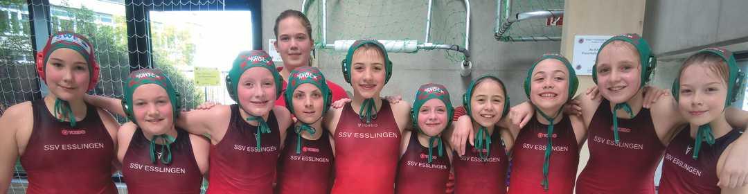 U12 Wasserball-Mädchen punkten in Stuttgart